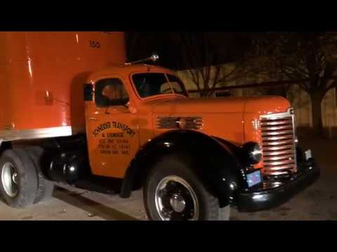 "Schneider National 's 1949 International truck named ""Vinny"""