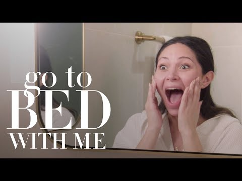 Marianna Hewitt's Nighttime Skin Care Routine | Go To Bed With Me | Harper's BAZAAR thumbnail