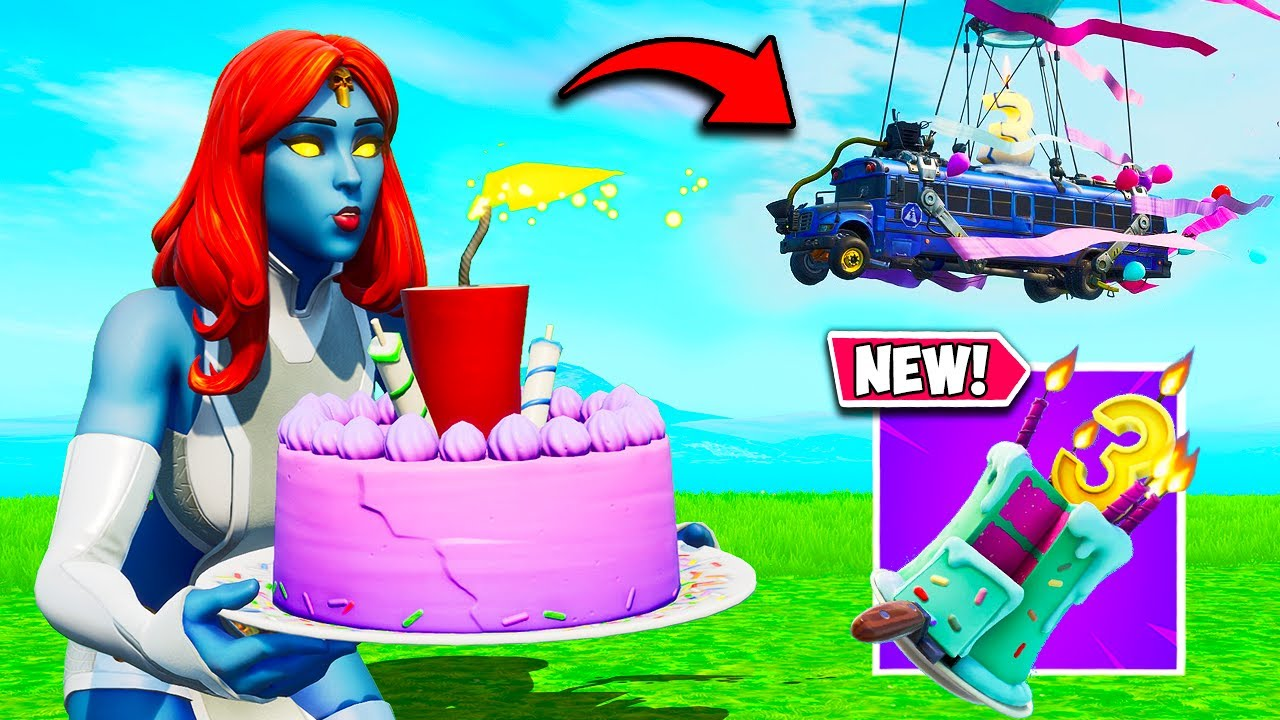 *NEW* BIRTHDAY EVENT IS HERE!! (FREE EMOTE + NEW BATTLEBUS!) - Fortnite Funny Moments! #1047