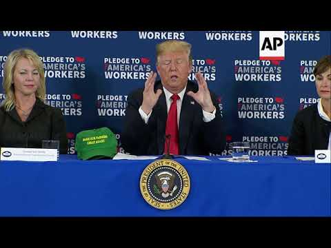 Trump Touts European Trade in Iowa Visit