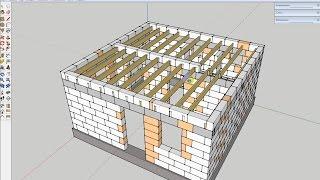Расчет деревянных балок перекрытий(Расчет деревянных балок перекрытий по стенам из газоблока. Сбор нагрузки на перекрытие. Программа для расч..., 2015-08-15T21:47:08.000Z)