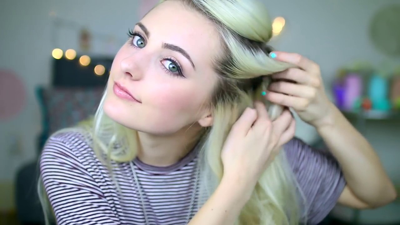 five easy and super cute hairstyles!!!! - YouTube