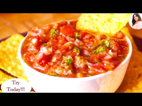 The Best Homemade Salsa Recipe, Mexican Restaurant Style Salsa Recipe, Basic Salsa