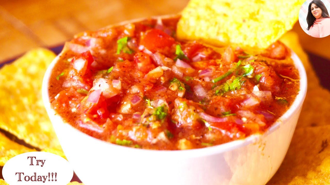 The Best Homemade Salsa Recipe, Mexican Restaurant style Salsa Recipe, Basic Salsa