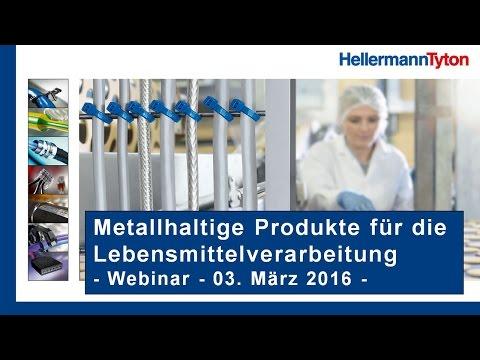 Webinar – Metallhaltige Produkte fürs Kabelmanagement in der Lebensmittelverarbeitung