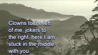 Stealers Wheel ~ Stuck In The Middle With You [LYRICS]