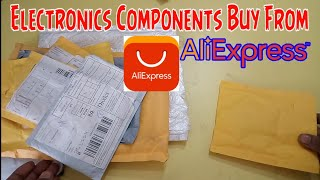 Buy Electronics components from AliExpress unboxing