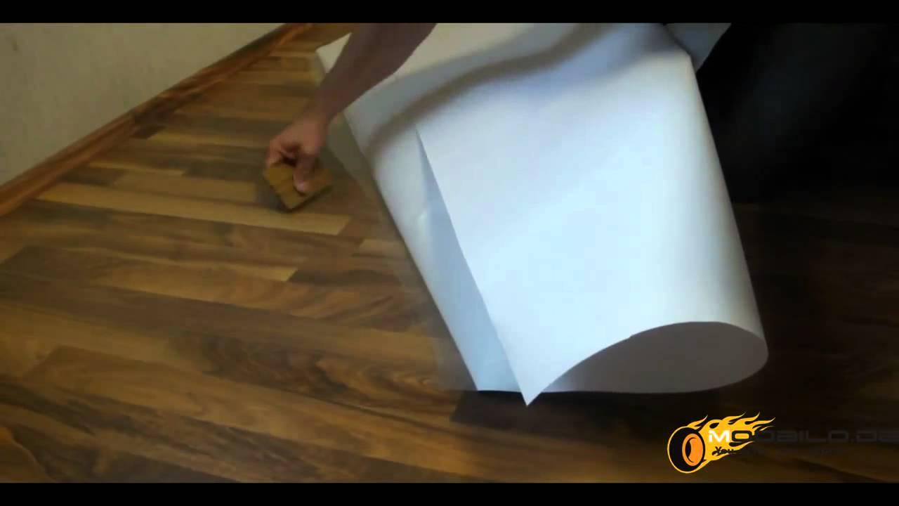 dezente bodenschutzmatte folie selbstklebend laminat. Black Bedroom Furniture Sets. Home Design Ideas