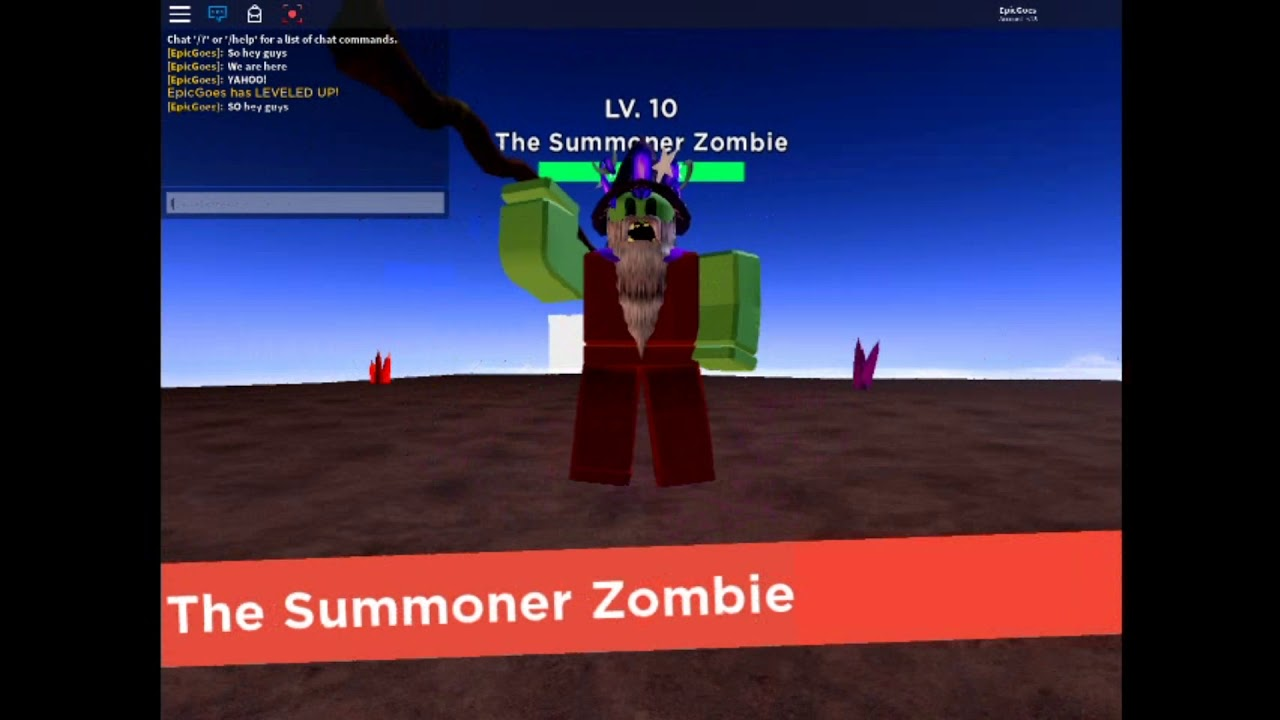 Defeating The Summoner Zombie Zombie Strike Roblox Youtube