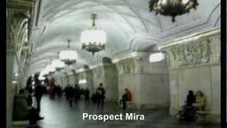 Moscow metro stations.Ga xe điện ngầm ở Mạc Tư Khoa-Moscow