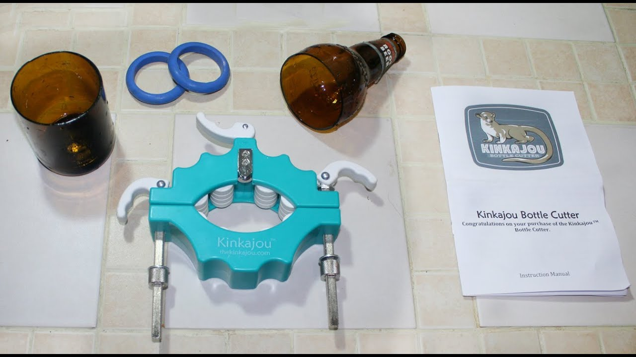 Kinkajou bottle cutter youtube for How to use a glass cutter on a bottle