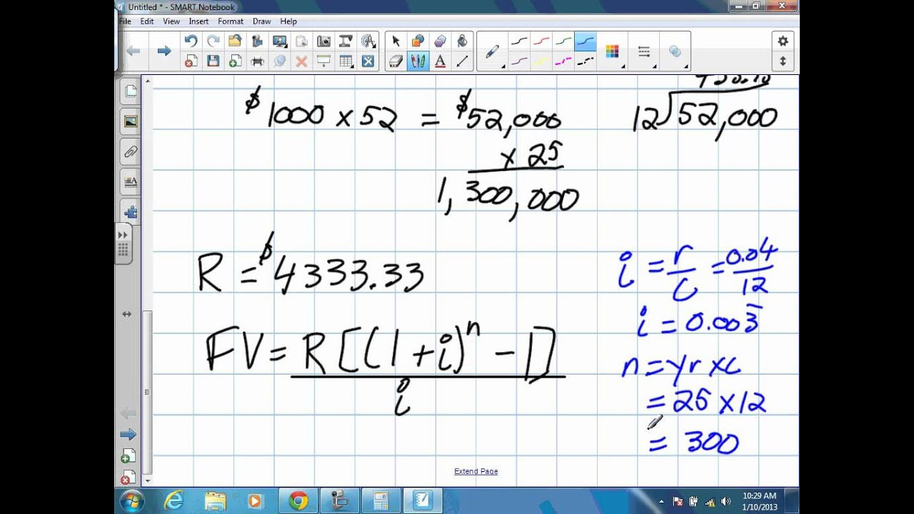 medium resolution of Future Value of Annuities Grade 11 mixed Lesson 8 5 1 10 13 - YouTube