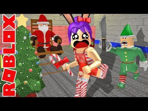 ROBLOX - Escapando del taller de santa- Santa's Workshop