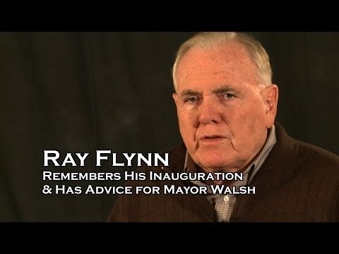 Ray Flynn Remembers his Inauguration and has advice for new Boston Mayor Walsh