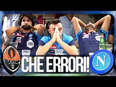 SHAKHTAR DONETSK 2-1 NAPOLI | CHE ERRORI! REAZIONE NAPOLETANI CHAMPIONS LEAGUE HD