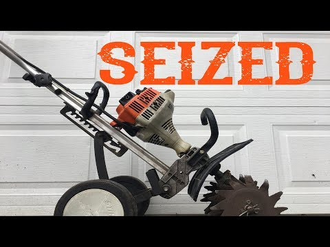 Why is This Stihl MM55 YardBoss Rototiller Seized? - Video