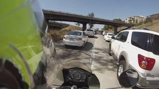 KLR 650 Freeway Filtering