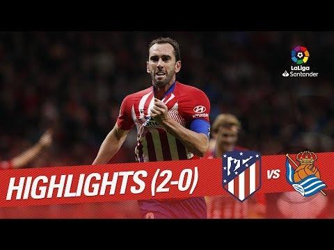Resumen de Atlético de Madrid vs Real Sociedad (2-0)