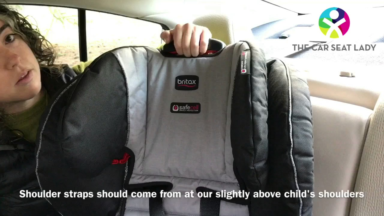 Adjusting Head Rest And Shoulder Straps On Britax Frontier Pinnacle Or Pioneer The Car Seat Lady