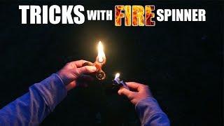 TRICKS WITH FIRE FIDGET SPINNER