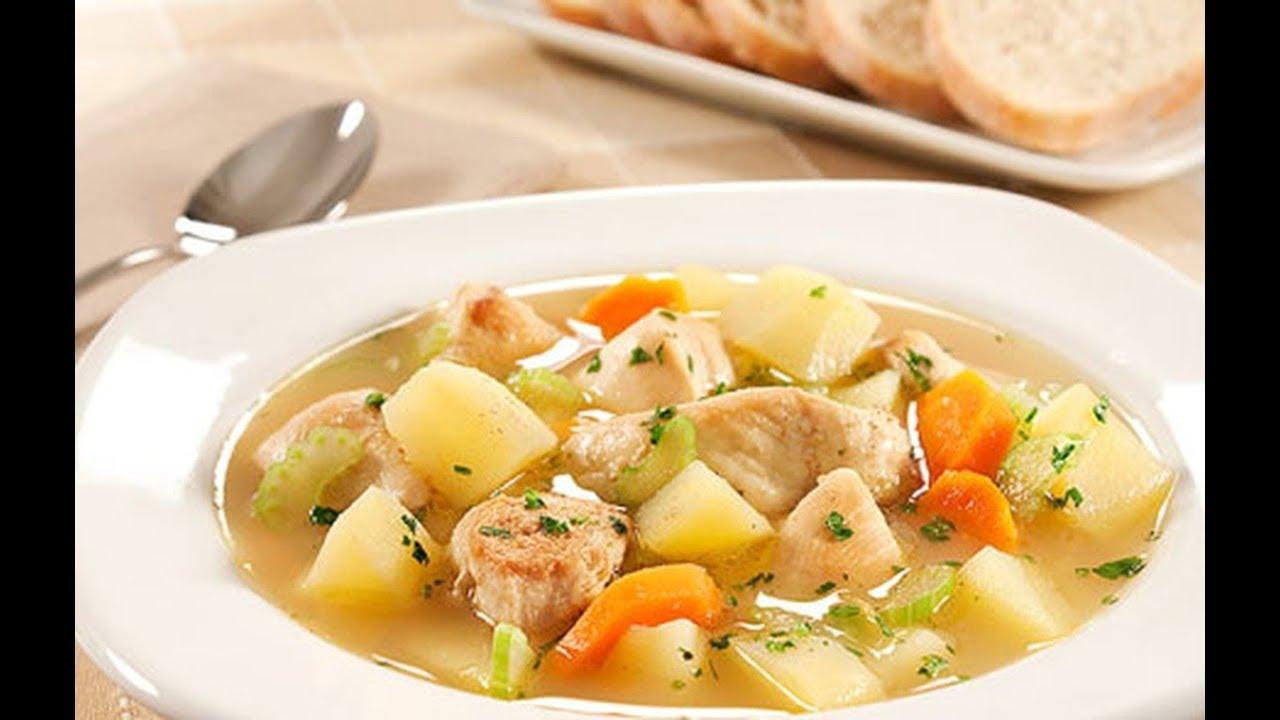 Vó Dalva Receitas - Sopa de frango com legumes pra esse friozinho!
