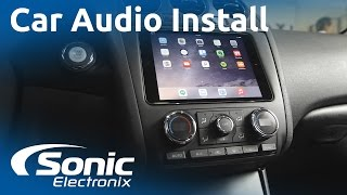 2012 Nissan Altima iPad Mini and Car Audio System Install | Custom Subwoofer Box | Sonic Electronix