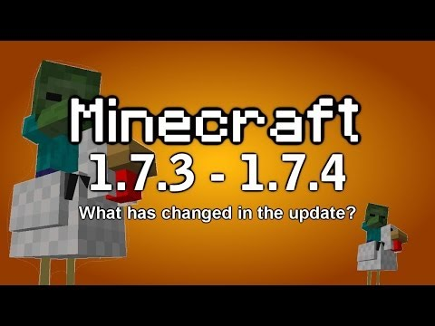 Minecraft 1.7.3 / 1.7.4 - Disco Sheep, Zombie Riding Chickens, Twitch Streaming