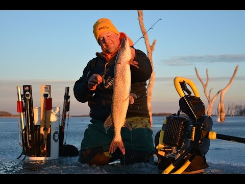 Ice Fishing Devil's Lake Walleye And Pike