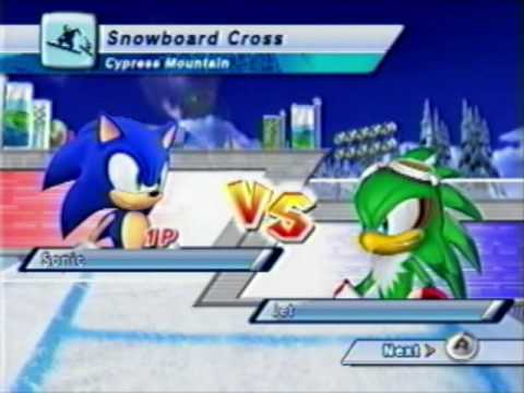 Mario And Sonic Rival 3 Jet Snowboard Cross Youtube