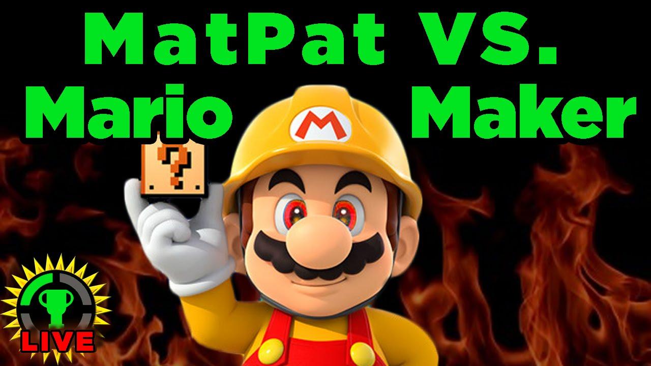 GT Live: MatPat vs Mario Maker! - Next stream: TOMORROW at # PST!