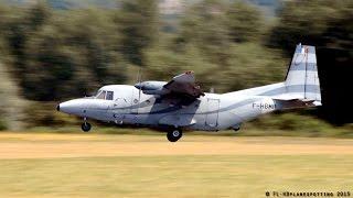 CASA C-212 F-HBMP landing & takeoff at Vichy-Charmeil [VHY/LFLV]