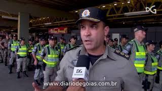 Viaturas e policiais ficarão fixos nos terminais de Goiânia