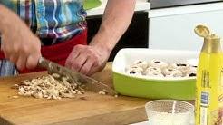 Jauhelihapihvit ja vuohenjuusto-herkkusienet