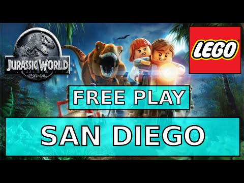 Lego Jurassic World San Diego Free Play 100% - All Minikits - Characters - Collectibles