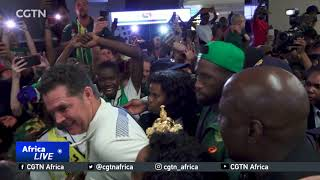 Champions Springboks return home to hero's welcome