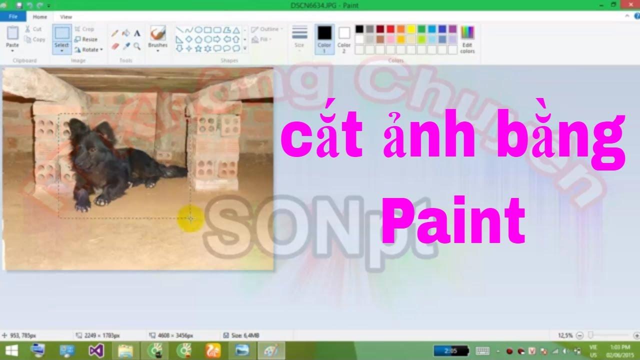 Cắt ảnh bằng Paint , cắt ảnh đơn giản và nhanh nhất bằng công cụ có sẵn Paint | [iT Không Chuyên]