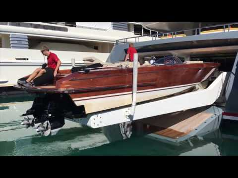 Onboard a Superyacht: Strange way to launch tenders!