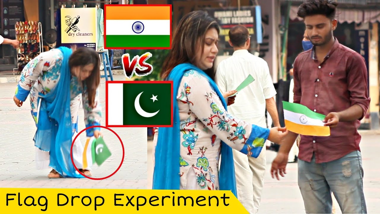 INDIAN FLAG VS PAKISTANI FLAG | FLAG DROPPING SOCIAL EXPERIMENT IN PAKISTAN @That Was Crazy