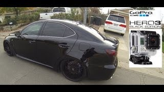 GoPro Hero 3 Black Edition - Test Ride Lexus ISF + Dog Fight Triple Monitor Gaming PC