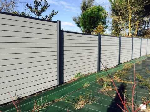 how to Installation plastic wood fence panel - How To Installation Plastic Wood Fence Panel - YouTube