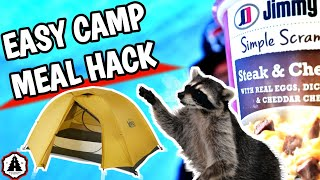 Camping Breakfast Scramble Hack ⛺  Bonus Hack | And My Luggage was DESTROYED! JOIN THE TOURING TRIBE