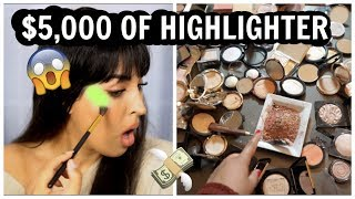 I MIXED $5,000 WORTH OF HIGHLIGHTER TOGETHER