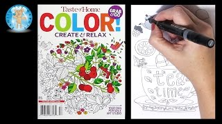 Taste of Home Create Color Relax Adult Coloring Book Magazine Tea Time - Family Toy Report