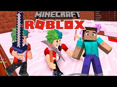 Minecraft En Roblox | Minijuegos De Minecraft En Roblox | Juegos Para Niños