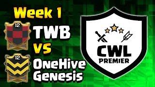 Clash of Clans: CWL Premier WEEK 1: TWB vs OneHive Genesis WAR RECAP