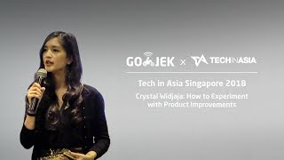 """Tech in Asia Singapore 2018 """"How to Experiment with Product Improvements"""" - Crystal Widjaja"""