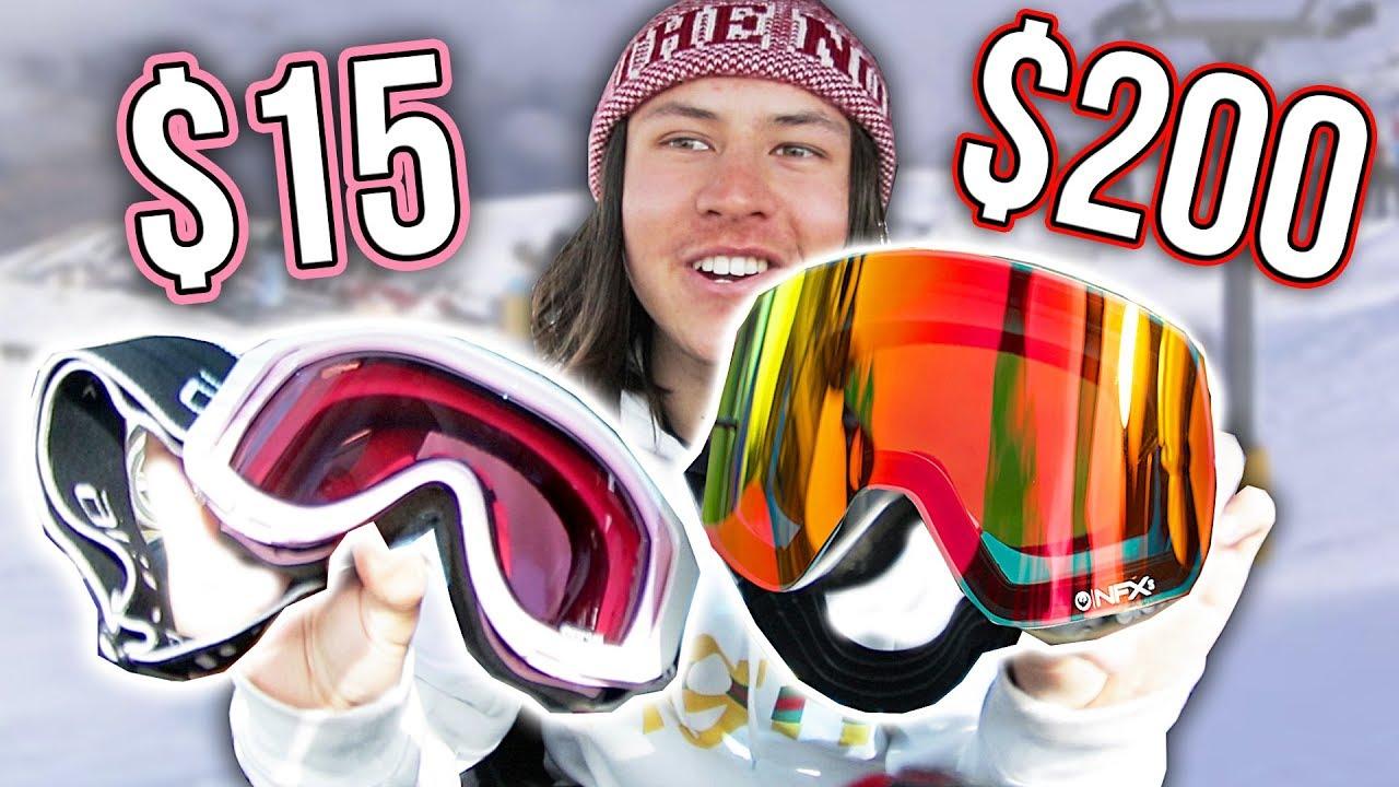 3c566960bb30  15 Goggles Vs.  200 Snowboard Goggles - YouTube