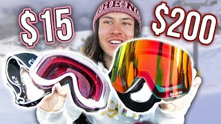 $15 Goggles Vs. $200 Snowboard Goggles