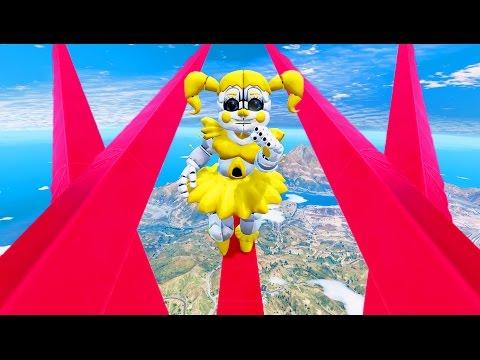 ULTIMATE GOLDEN BABY DEATHRUN! (GTA 5 Mods For Kids FNAF Funny Moments)