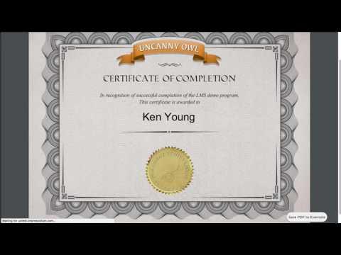 Uncanny LP: Creating a Certificate